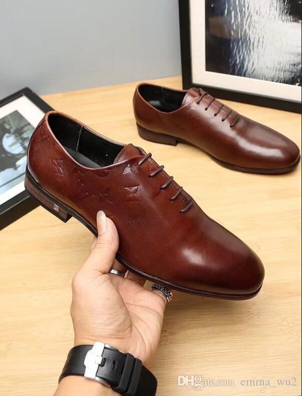 Handmade Genuine Leather Men Shoes Lace up Round Toe Business Men Dress Shoes Comfort Driving Loafers Flat Shoes Men Big Size 45