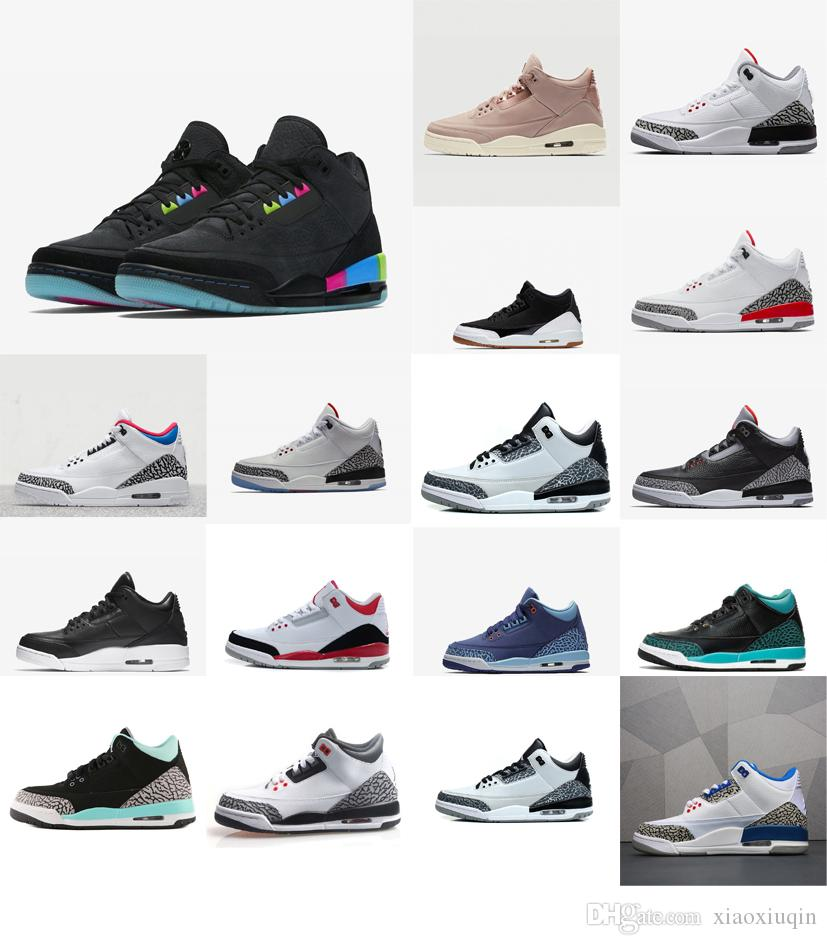 new styles 6c4c3 40dd9 2019 Women 3s Basketball Shoes Retro J3 Black White Cement OG Quai 54 Boys  Girls Youth Kids Aj3 Jumpman III Sneakers Tennis With Box From Xiaoxiuqin,  ...