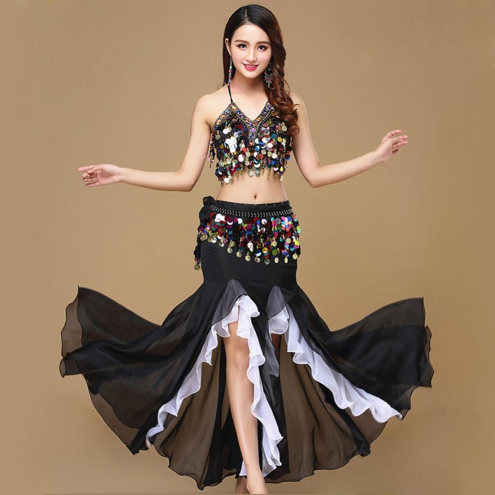 4323d4ee193a 2019 Belly Dance Costume Women Dance Coins Tops For Slim Gilrs ...