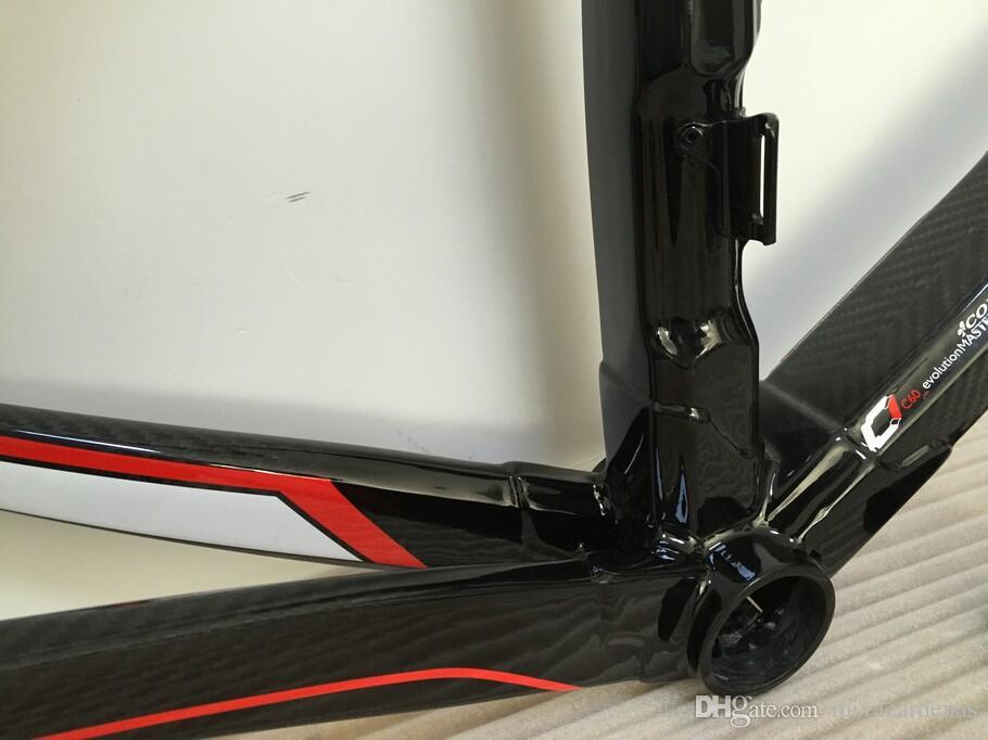 Colnago Carbon Negro Manillar Colnago C60 bicicleta del carbón del marco de bicicleta de carretera de carbono de marcos de color oro diseño de marcos