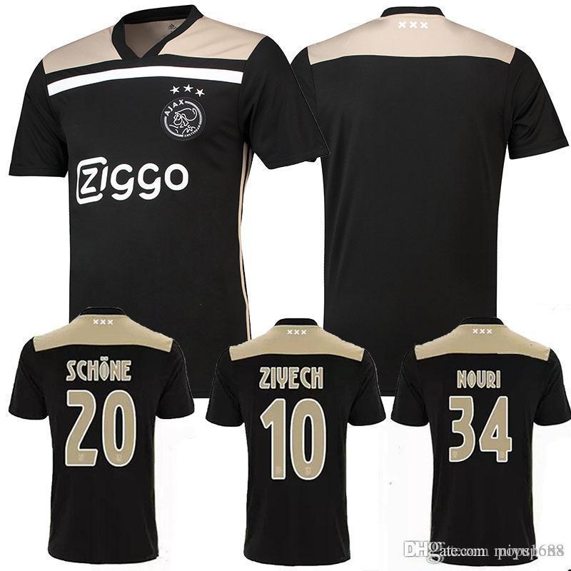 78419c635f1 2019 ZIYECH Thai Quality New 2018/19 Ajax FC Away Black Gold Soccer Jersey  KLAASSEN DOLBERG MELIK DIJKS EL GHAZI Mens Football Uniforms Shirt From  Miyu1688, ...