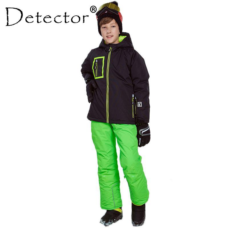 819b482f3 Detector Boys Ski Snowboard Set Winter Waterproof Windproof Kids Ski ...