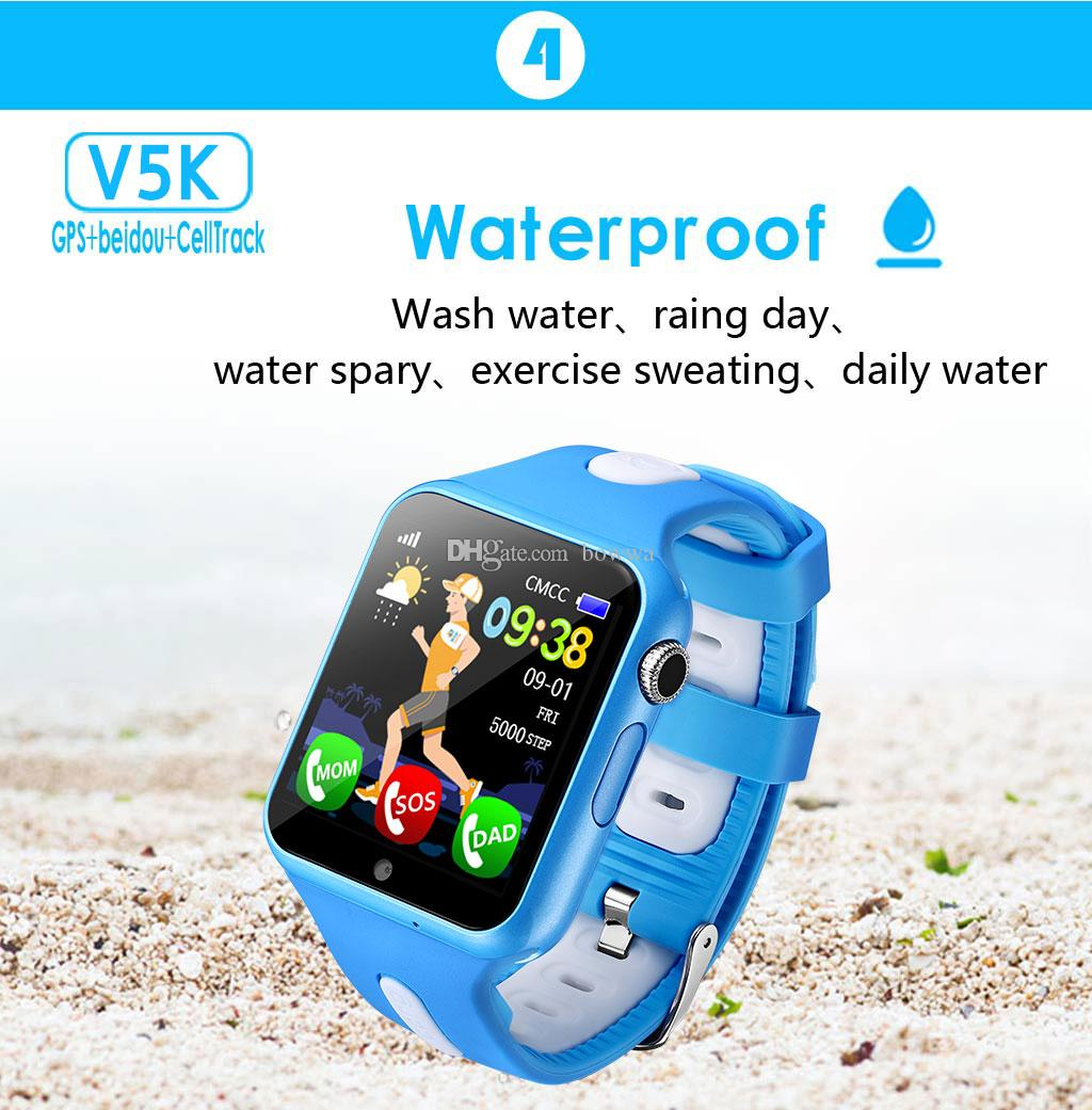 V5K Waterproof Kids GPS smart watch kids Safe Anti-Lost Monitor Watches with camera/facebook SOS Call Location Device Tracker
