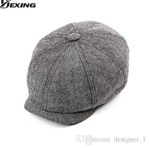 900208f32e3 2019 Tweed Gatsby Newsboy Cap Men Spring Summer Hat Golf Driving Flat  Cabbie Flat Unisex Berets Hat Peaky Blinders Hat From Designer 1