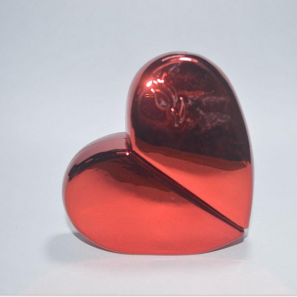 Venta al por mayor en forma de corazón 25ml botella de perfume de vidrio tornillo cuello recargable bomba pulverizador pulverizador de perfume grueso botellas de vidrio es