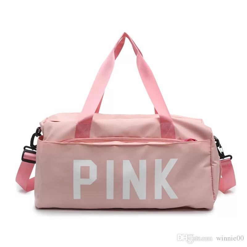 Fashion Free S Hipping Pink Duffle Bag Womens Gym Sports Bag Foldable Sport  Duffel Bag Waterproof Travel Gym Duffle Bag Mens Shoulder Bags Fashion Bags  From ... a6a6e3efba1ad