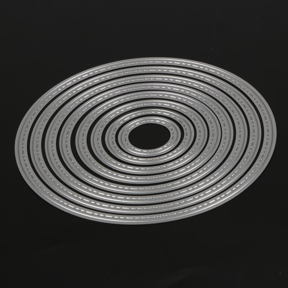 8Pcs Circle Dies Metal Stencils Cutting Dies for DIY Scrapbooking Photo Album Embossing Decorative Dies Paper Card Craft
