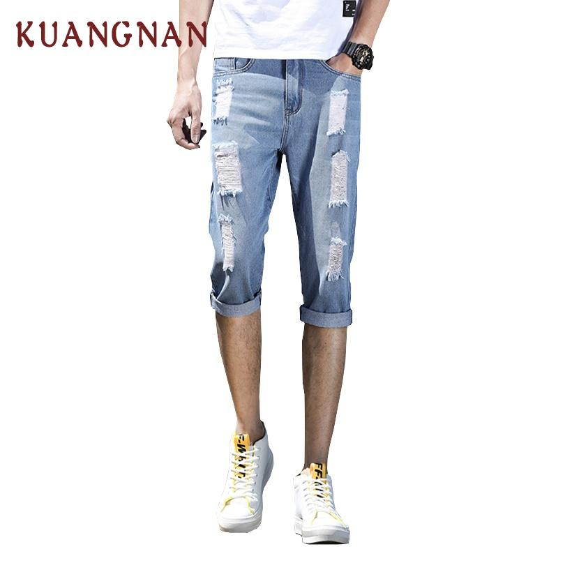 3c74631114a 2019 2018 New Arrival Knee Length Ripped Jeans Men Joggers Vaqueros Hombre  Mens Distressed Jeans Hip Hop Jean Homme Denim Pant From Roberr