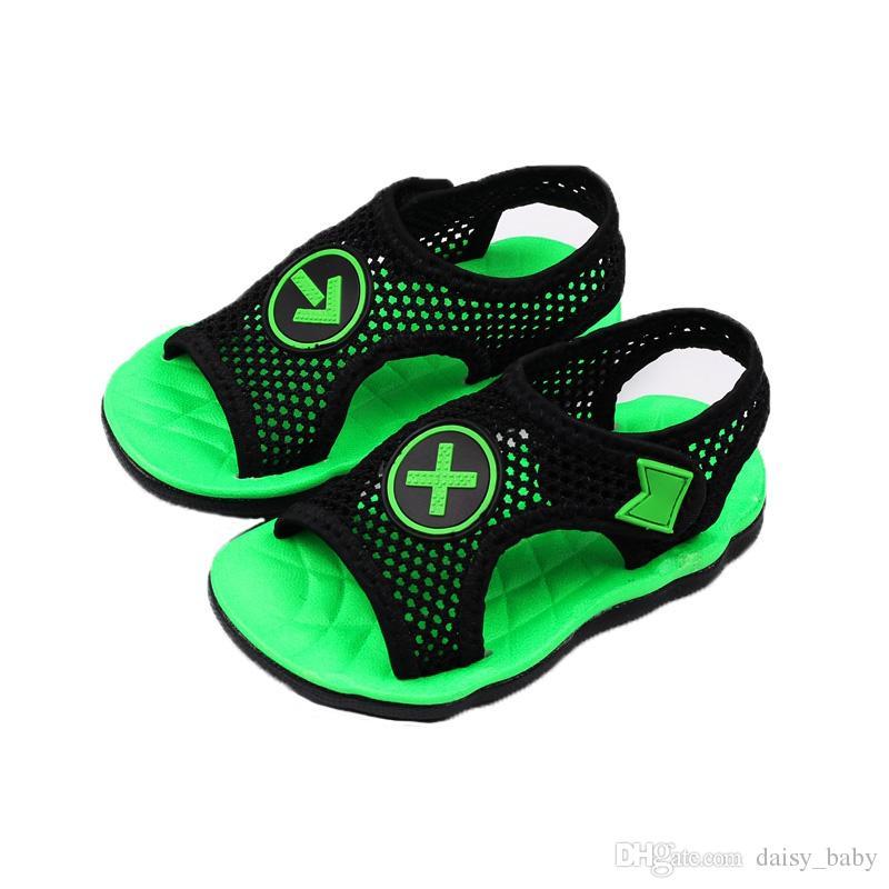 aa2ecf433376 2018 New Children Summer Shoes Fashion Sandals Boys Girls Hollow Shoe Beach  Shoes For Kids Sandals #7 Kids Shoes Brands Boots For Toddler Boys From ...