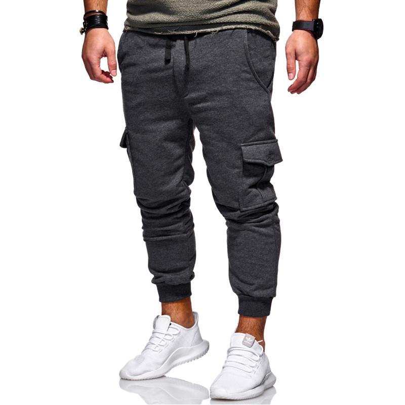 7461c658c3af2 Compre 2018 Nueva Marca De Moda Caliente Pantalones De Hombre Delgado Color  Sólido Elasticidad Hombres Pantalones Casuales Hombre Pantalones Diseñador  Khaki ...