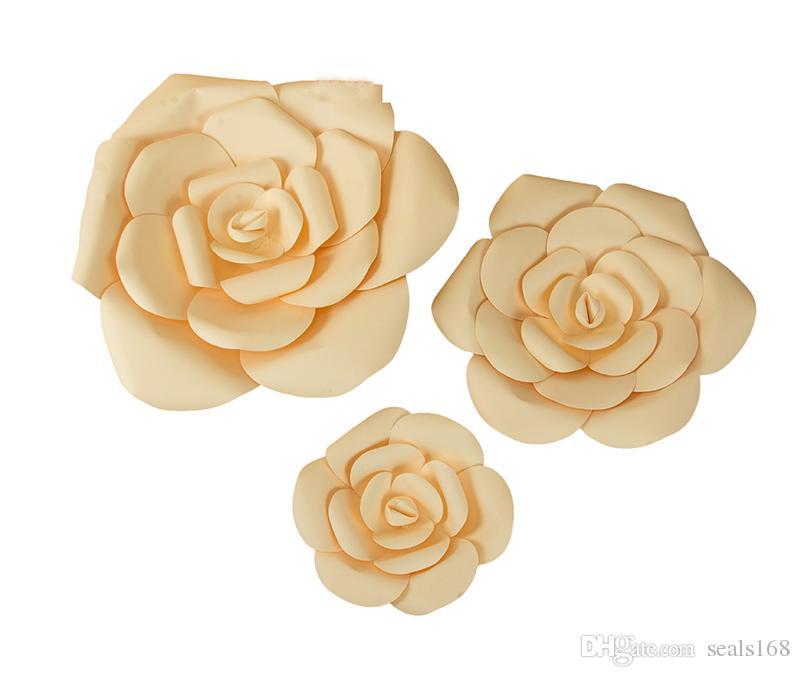 Création Papier Fleurs Artificielle Rose Fleurs De Mariage Décoration DIY Artisanat Bébé Douche Fête D'anniversaire Décorations À La Maison HH7-1082