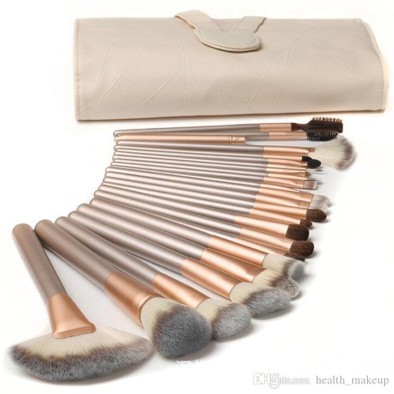 maquillage brosse mybasy nouveau design professionnel beige maquillage pinceaux de maquillage cosmétique ovale cosmétique fondation bb crème poudre rougir DHL