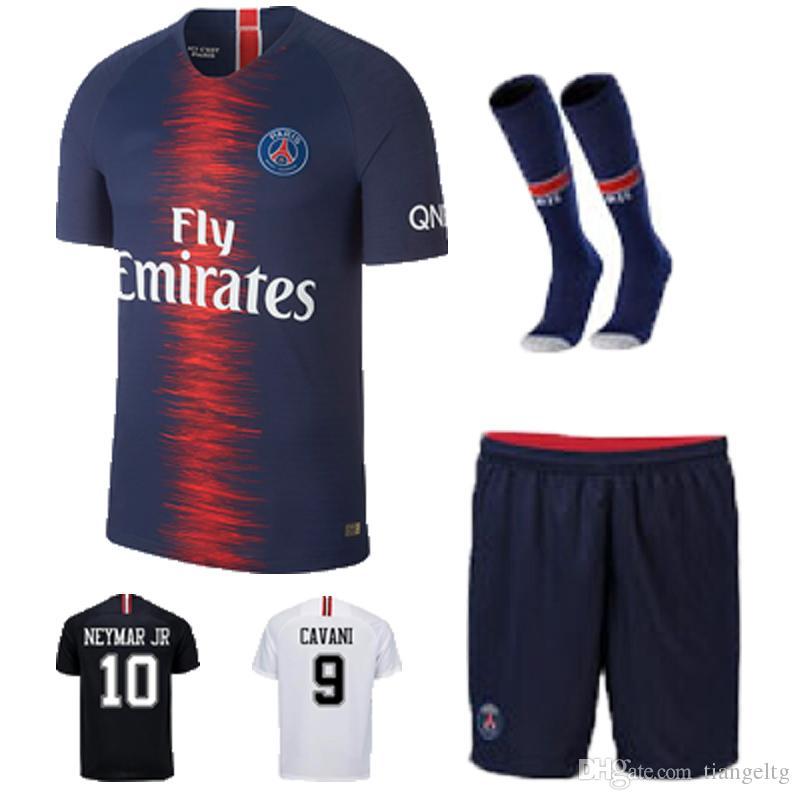 02c78d5da ... Jersey Saint Germain Kits De Futebol Camisas Uniformes Roupas De  Esportes De Poliéster MBAPPE NEYMAR JR Conjunto 2018 De Tiangeltg