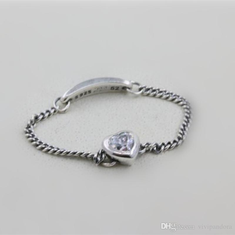 25e4cad98 2019 Women Ring 925 Sterling Silver European Pandora Style Charm Jewelry  Spirited Heart Ring With Clear CZ From Vivipandora, $13.62 | DHgate.Com