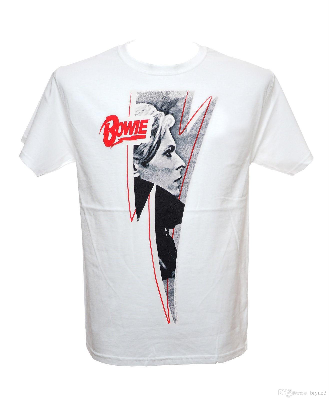 David Bowie Red Logo Lightning Official Licensed T Shirt New S 3xl