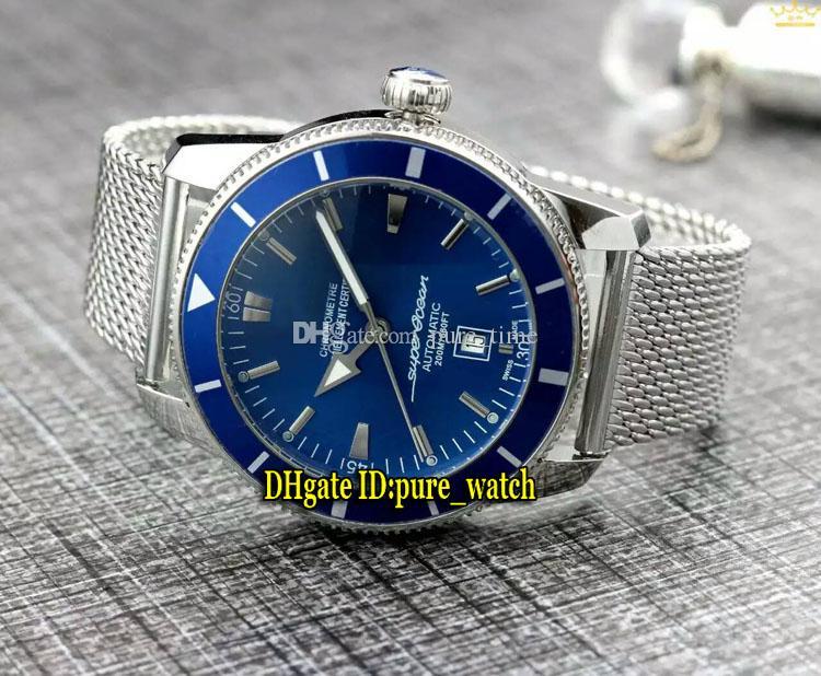 Nouvelle Super Heritage Heritage AB201012 | G827 cadran blanc asiatique 2813 automatique Mens Watch noir lunette en céramique lunette en acier bande Mesh Nouvelles montres
