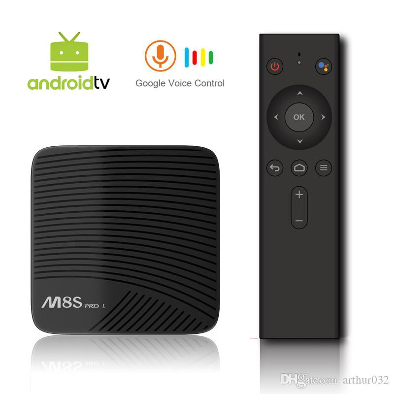 MECOOL M8S PRO L Android TV OS Netflix 1080P 3GB/16GB YouTube 4K TV Box  with Voice Remote Amlogic S912 802 11ac WiFi
