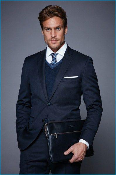 Navy Blue Coat Pant For Men