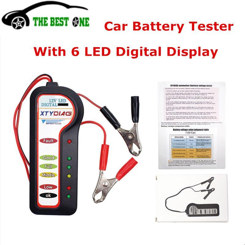 New Arrival Xtydiag 12v Car Battery Tester With 6 Led Digital