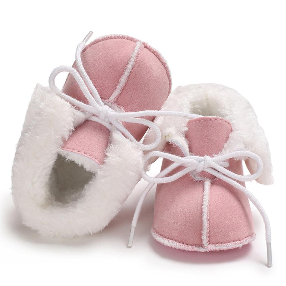 561431fc8f7c6 2019 New Born Toddlers Baby Girl Soft Cotton Booties Pure Color Bandage  Snow Boots Toddler Warm Shoes #TX10 From Qwinner, $34.54 | DHgate.Com