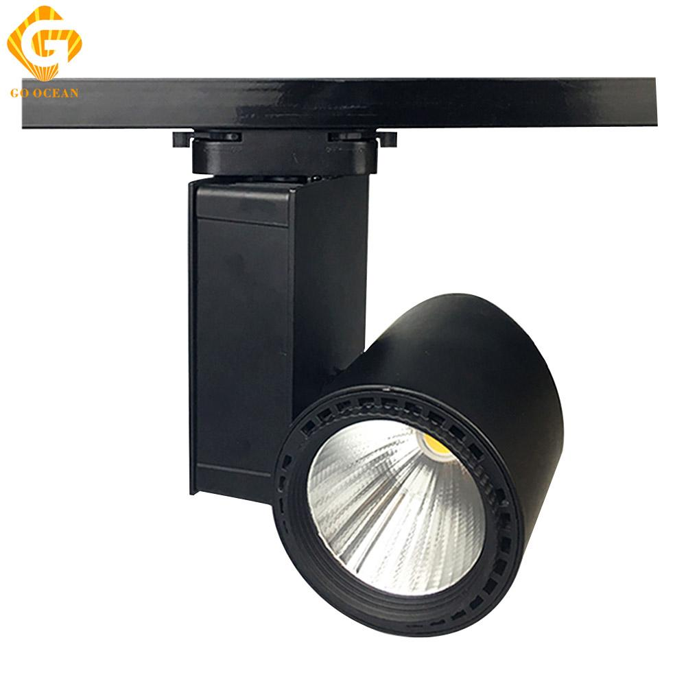 Go ocean track lighting led track light 30w cob aluminum shoes go ocean track lighting led track light 30w cob aluminum shoes industrial rail spot led spotlight ceiling rail lights track lighting cheap track lighting go aloadofball Images