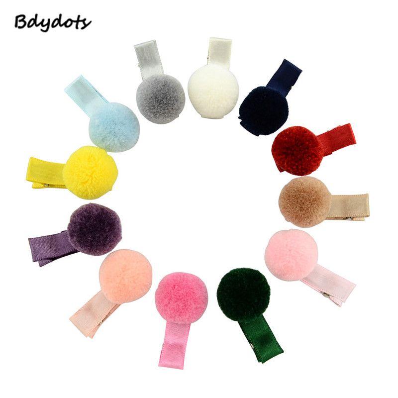 864e22b4588  Bag Korean Fur Ball Pompom Hair Clip Pin Barrettes Headwear For Baby Girls  Boutique Hairball Hair Clips Grosgrain Hairpins Headwear Headwear Baby  Cheap ...