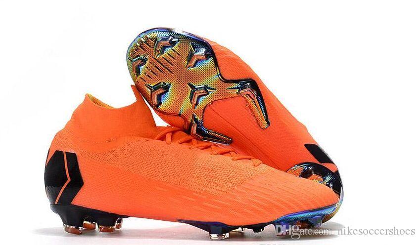 sports shoes dcf77 e5e2d Acheter Bottes De Football Pour Hommes Pas Cher Enfants Mercurial Superfly  VI 360 Elite FG Soccer Chaussures Bottes Livraison Gratuite Jeunes Femmes  ...