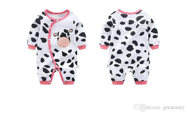 New cow newborn romper baby long sleeve clothes cotton infant baby girls boys one-piece romper outfits toddler jumpsuit