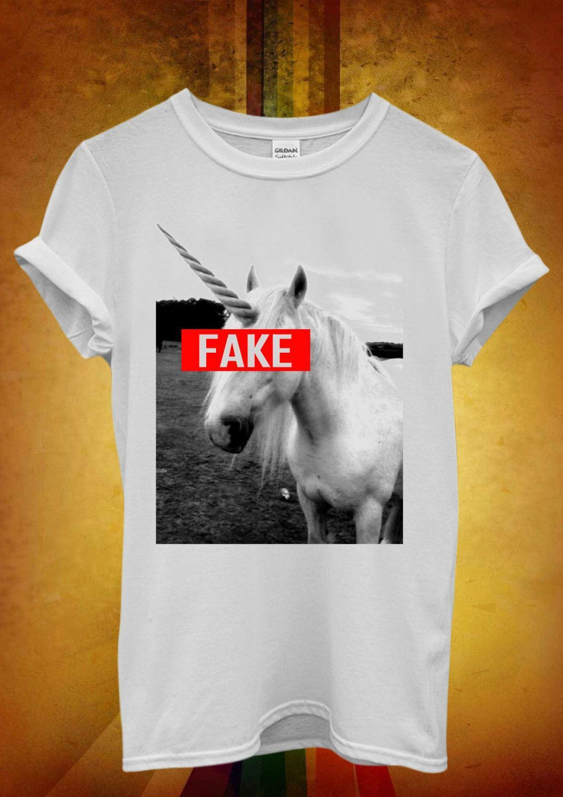 Falso Divertido Mujeres Unicornio Camiseta Unisex Hipster 908 Hombres Mangas Fresco Chaleco Sin OPXikuZ