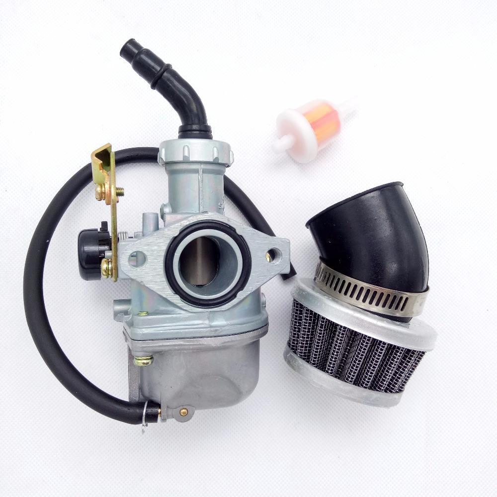 New PZ20 Carburetor W/ Air Filter 50 70 90 110 125 cc ATV Roketa TAOTAO  20mm Cable Choke