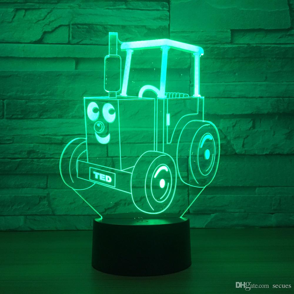 TED Truck 3D Optical Illusion Lamp Night Light DC 5V USB Powered AA Battery Wholesale Dropshipping Free Shipping