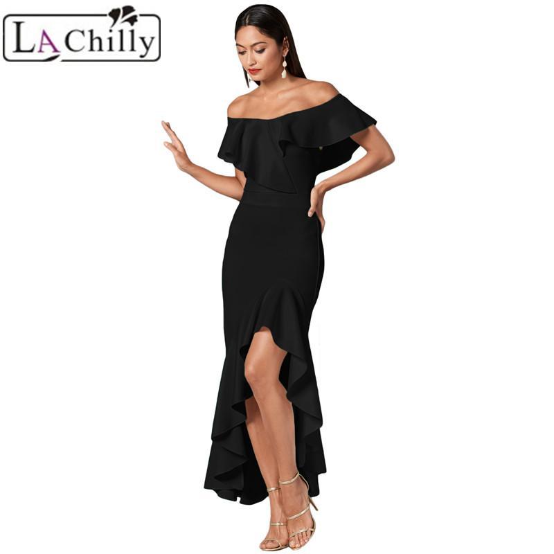 bdac8c7ed6576f La Chilly Women Dress Elegant 2018 Ladies Dresses Summer Clothes ...