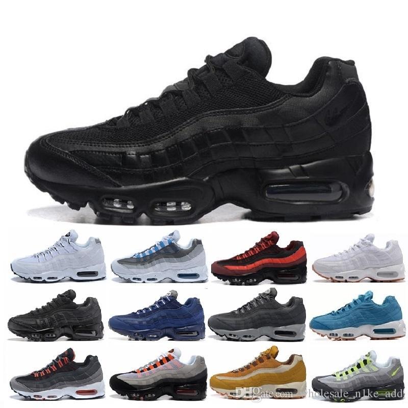 d1ed3b96e35 Compre Barato Esporte Sapatilhas Sapatos Clássicos 95 Homens E Mulheres Sapatos  Preto Do Exército Verde Sports Trainer Almofada De Malha De Superfície De Ar  ...