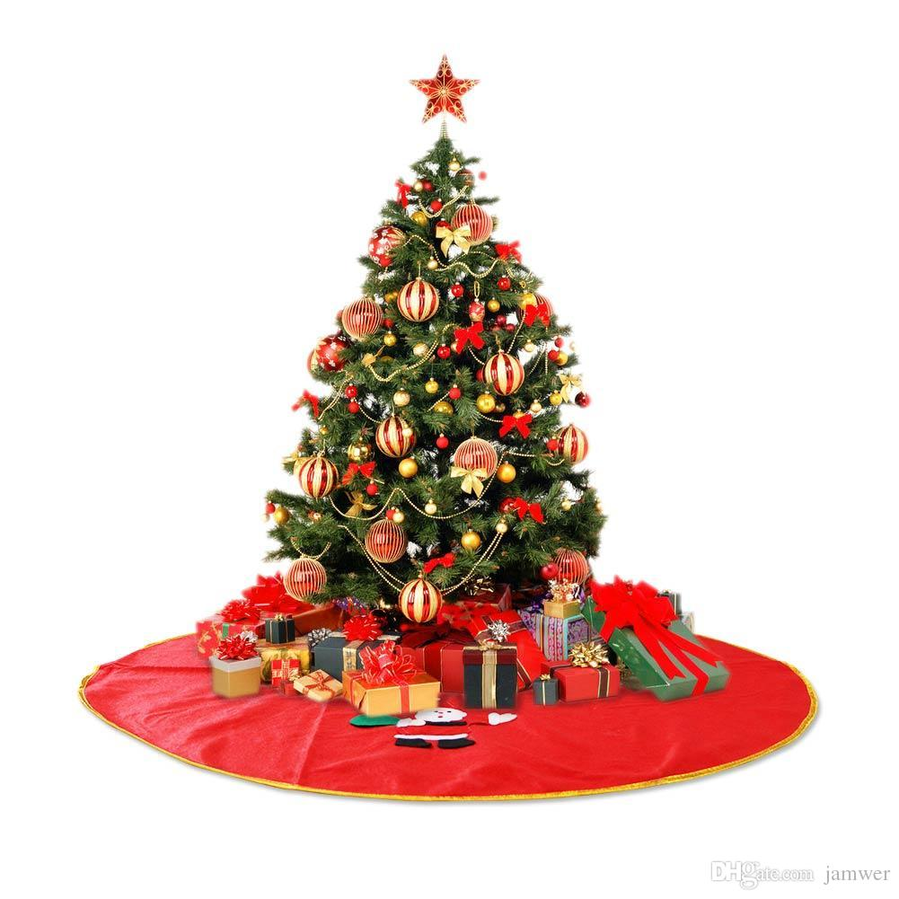 wholesale new arrival 90cm christmas tree skirt santa claus christmas decorations for home christmas supplies christmas window decorations christmas window - Decorated Christmas Trees For Sale
