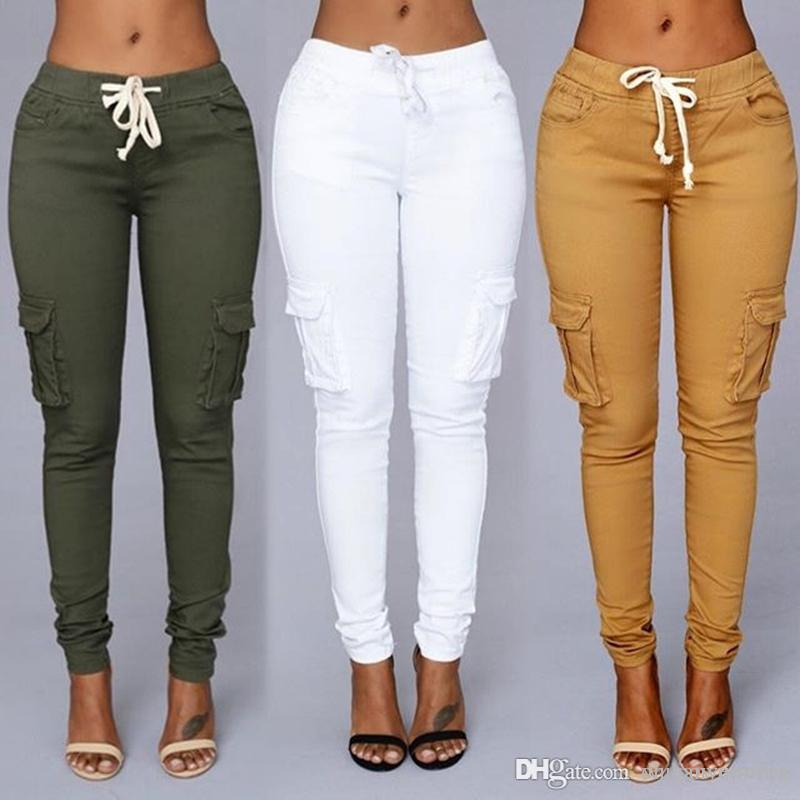 0c23f6e740 2019 4 Design Plus Size Women Pencil Stretch Casual Denim Skinny Jeans  Pants High Waist Jeans Trousers CL161 From Dh powerseller