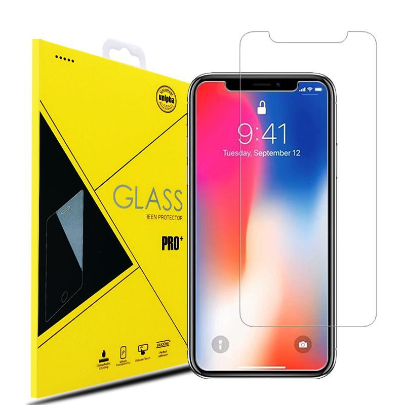 Displayschutzfolie für iPhoneX iPhone8 2.5D Premium Qualität Gehärtetes Glas Film Shockproof Protector für Samsung Galaxy S9 S10 Kleinpaket