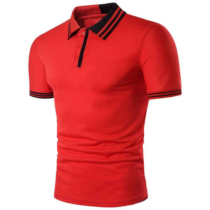 064077c59ef Summer New Brand Mens Polo Shirt Short Sleeve Solid Button Two Color  Stitching Personality Design Male Clothing Man Polo Shirts