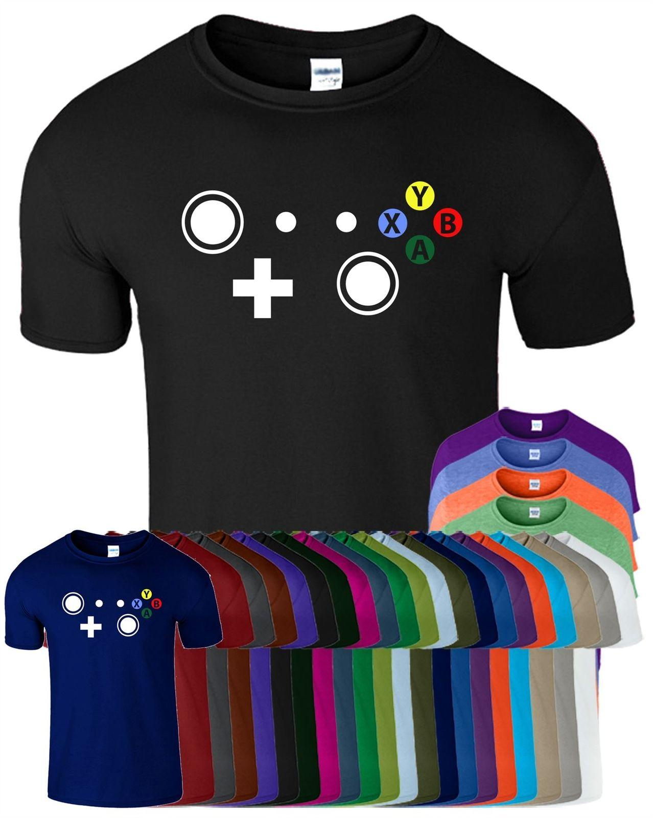 86a65a9dae06 Controller Xbox Mens Womens T Shirt Joypad Buttons X Y B A Video Gaming  TShirt Cool Casual Pride White T Shirts With Designs Cloth T Shirt From ...