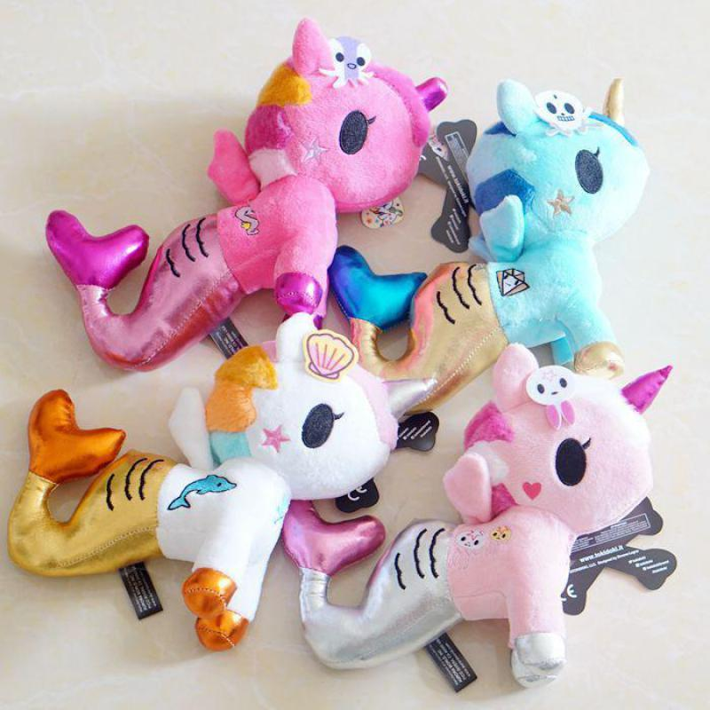 2019 Cute Colorful Mermaid Plush Toy Kawaii Horse Soft Stuffed