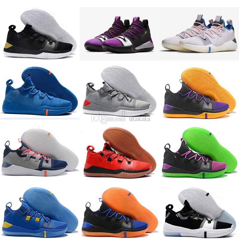 finest selection fb2db b20af 2019 New Kobe AD Mamba Day A.D. EP Sail Multi Color Mens Basketball Shoes  Size 7 12 Kobe Bryant Sports Sneakers Girls Basketball Shoes Best  Basketball Shoes ...