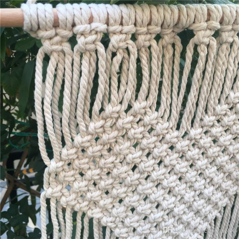 Bohemia Macrame Tapestries Woven Wall Hanging Tapestry For Home Wedding Decoration Handmade Knitting Heart Curtain Hot Sale 21 5cm Z