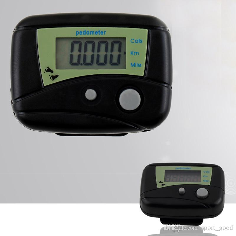 Two button Pocket LCD Pedometer Mini Multi-function Pedometer Step Counter LCD Run Step Pedometer Digital Walking Counter White box Package