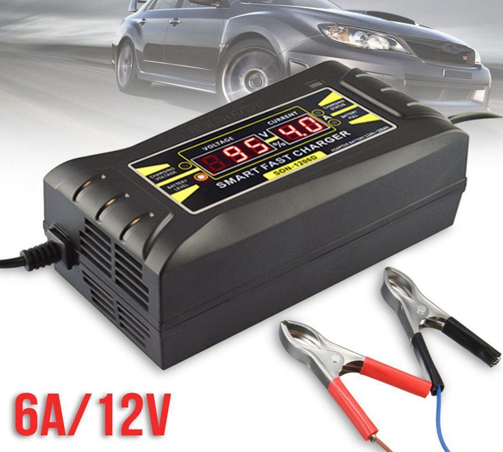 Caricabatteria auto completamente automatico 110V / 220V a 12V 6A 10A Smart Fast Power ricarica display LCD digitale DDA271