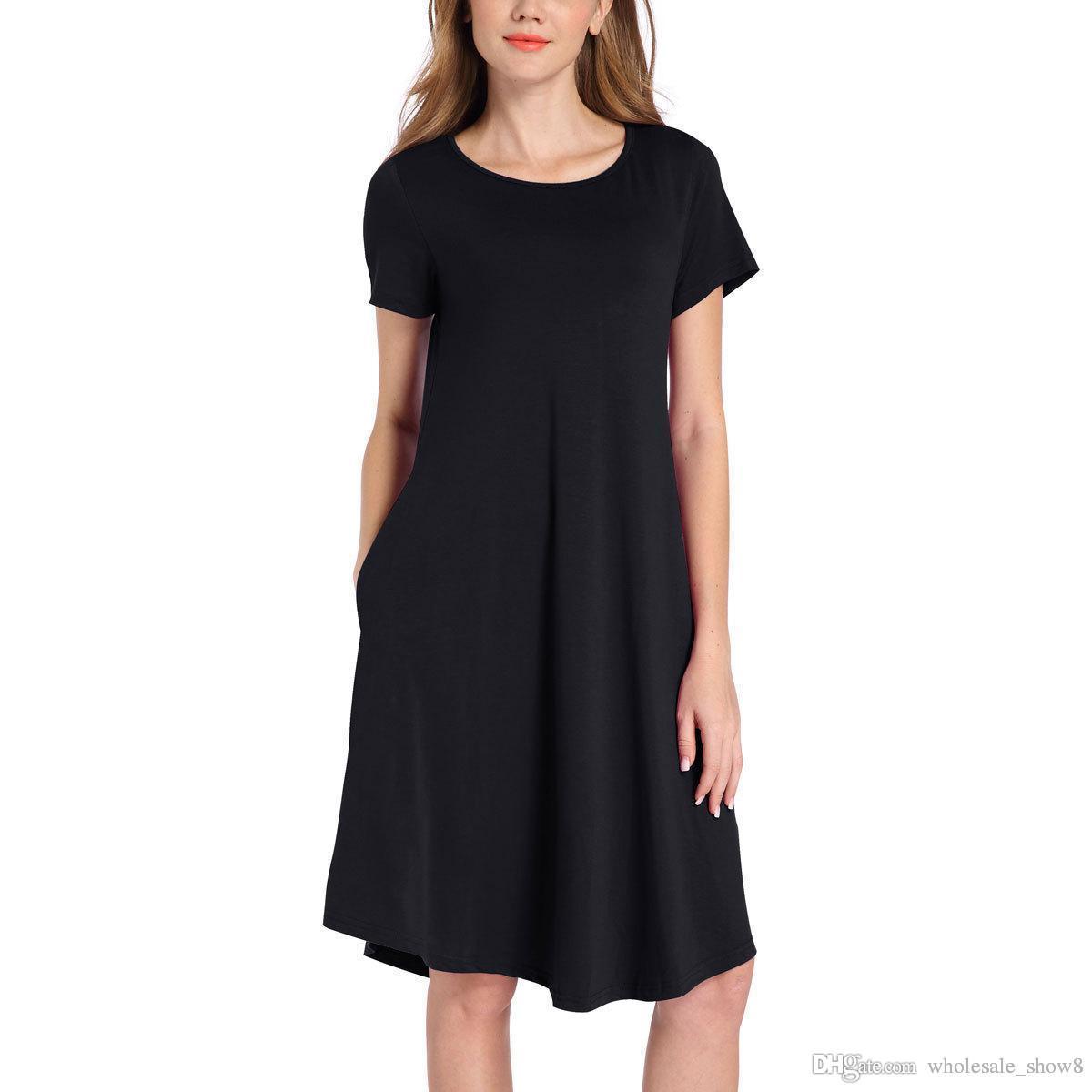 4f1a572077c Plus Size Black Shirt Dress