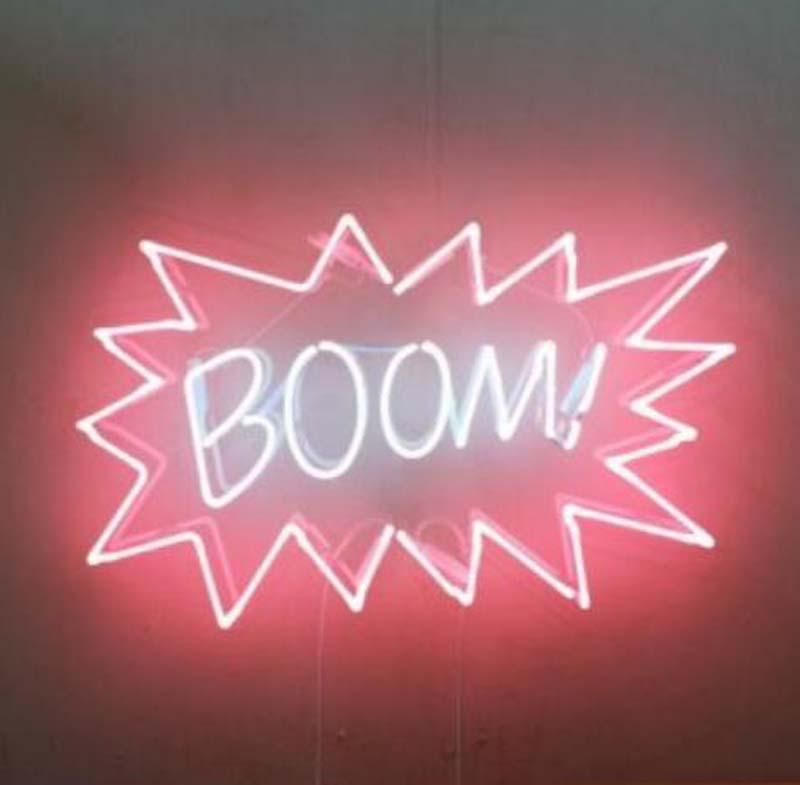 fc446c6742 2019 BOOM Neon Sign Handmade Real Glass Tube Garage Home Decoration ...