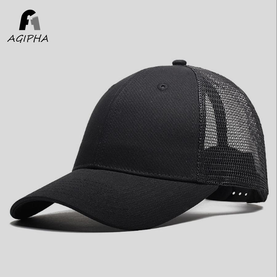 New Type Casual Solid Cotton Truck Cap For Women Men Black White Summer  Baseball Cap Cool Mesh Snapback Dad Hats 59fifty Snapback Cap From  Nectarine99 f30be7d036