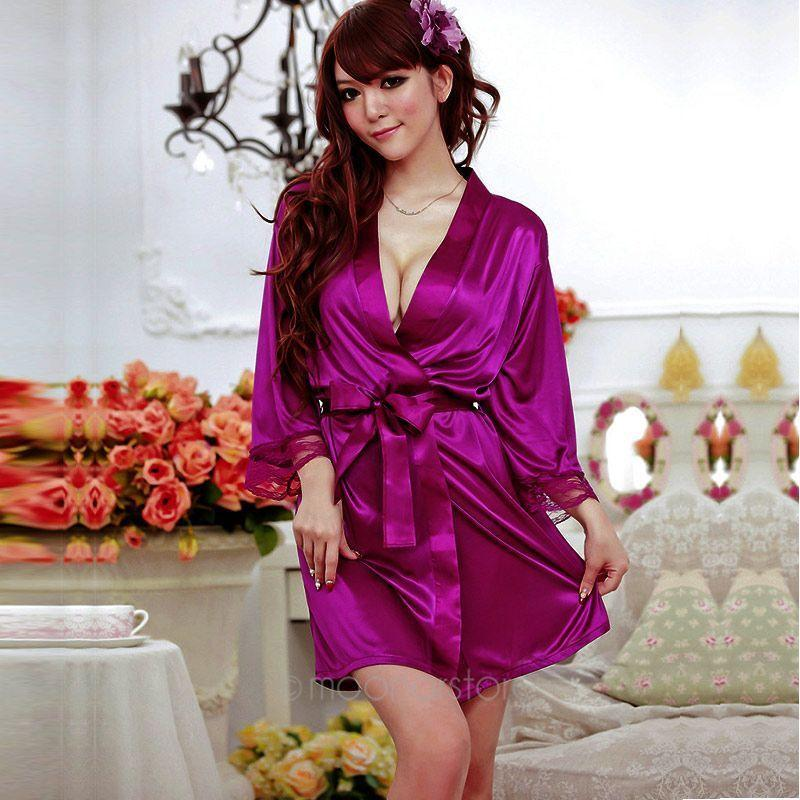 9ee4d0591 New Hot Women Sexy Lingerie Nightwear Purple Sexy Underwear Lace Babydoll  Dress Fashion Women Sleep Suit Wife Gifts S918 Luxury Pyjamas Womens Luxury  Silk ...