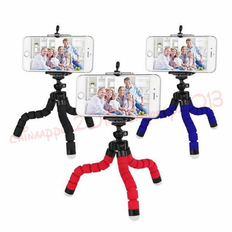 Mini titular de telefone de câmera flexível Octopus tripé suporte suporte monopé para samsung htc