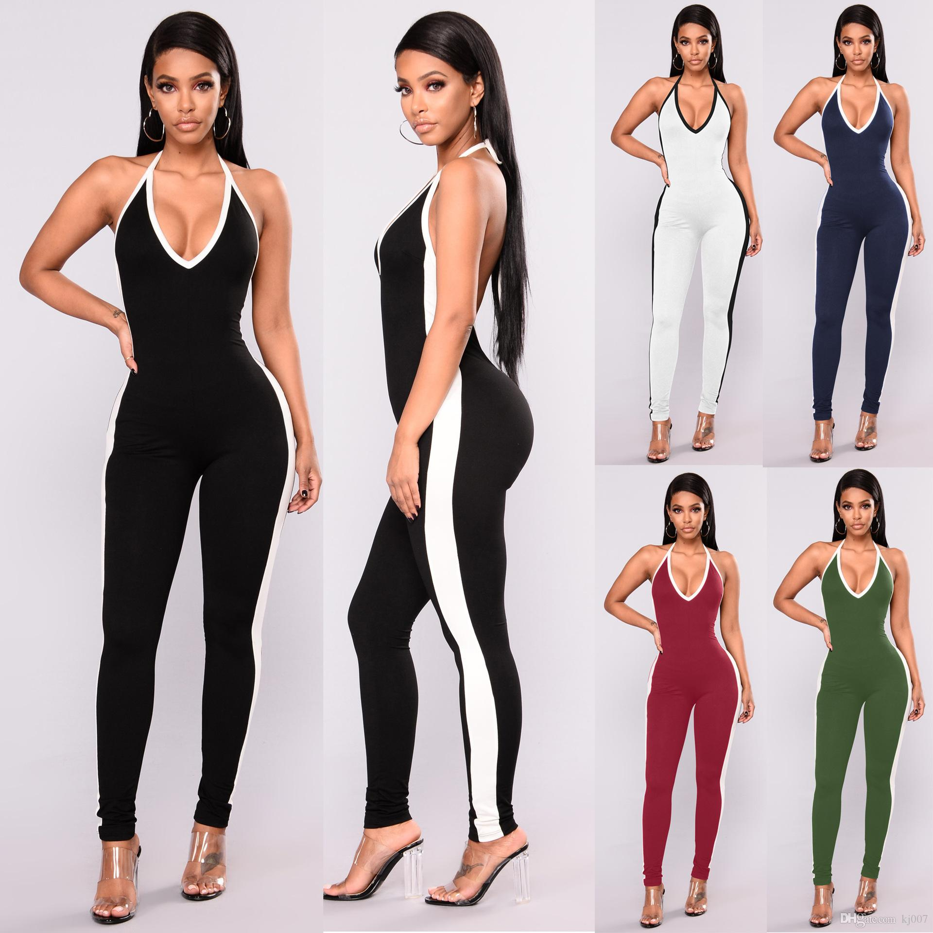 2017 New Sexy Womens Bodysuit Long Sleeve Brief Solid Bodycon Bandage Bodysuit Jumpsuit Slim Short Convenience Goods Sports & Entertainment