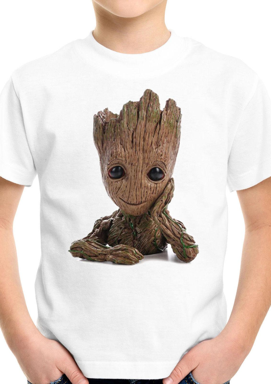 3bd7207aad7 Baby Groot Guardians Of The Galaxy Superhero Boy Girl Birthday Kids T shirt  893 Funny free shipping Unisex Casual